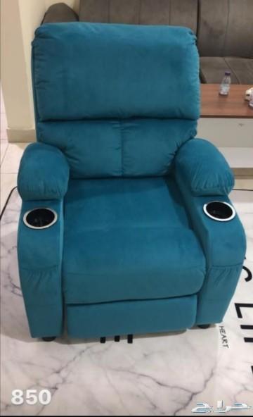 كرسي استرخاء ظهر قابل للتحكم بخاصية الدفع