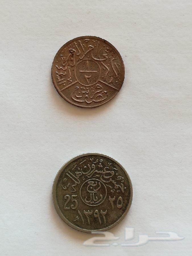 نصف قرش قديم للملك عبدالعزيز آل سعود 1344