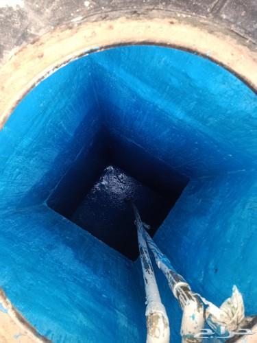 كشف تسرب المياه وفحص خزانات المياه بالجهاز
