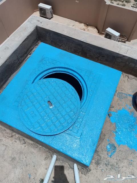 عزل خزانات وكشف تسربات المياه بالرياض