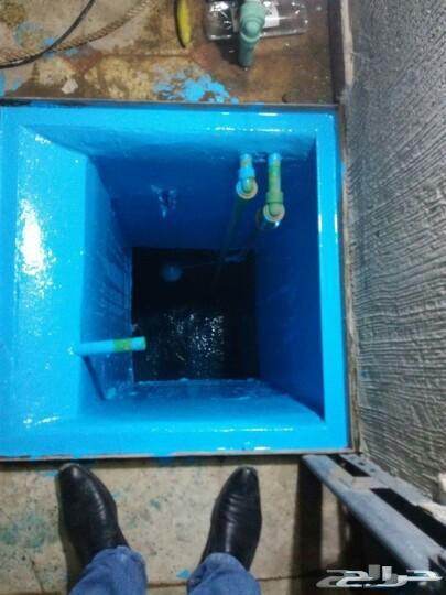كشف تسربات المياه عزل خزانات اسطح مسابح حماما