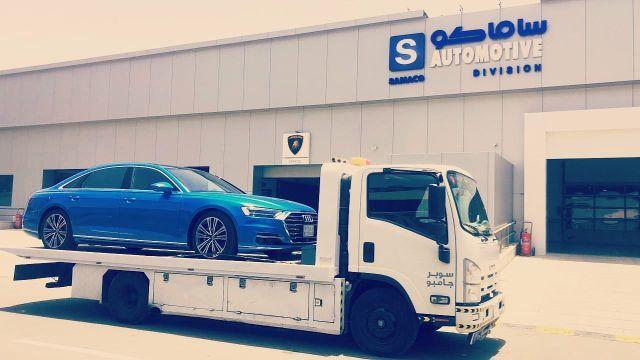 شحن السيارات من الامارات الى جدة سطحة من دبي الى جدة