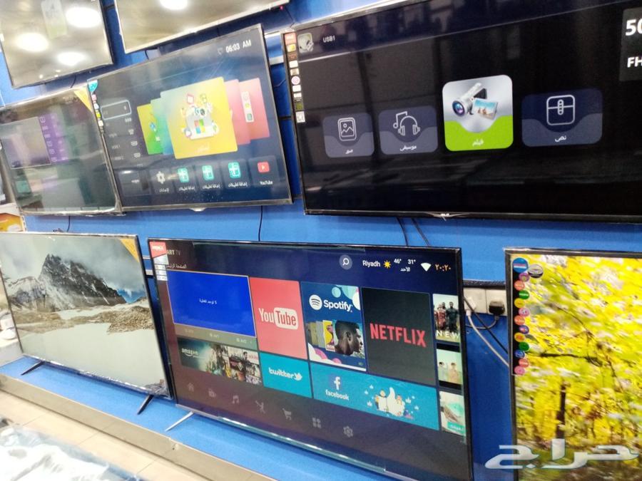 شاشات تلفزيون سمارت 4kبتوصيل ضمان سنتين